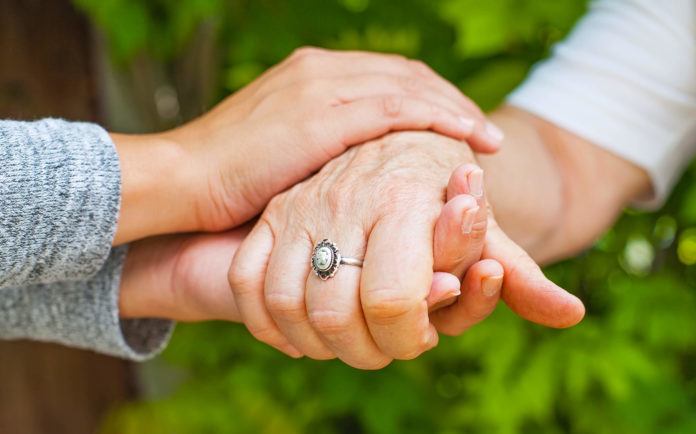 Holding hands, CBD Help from Parkinson's Disease