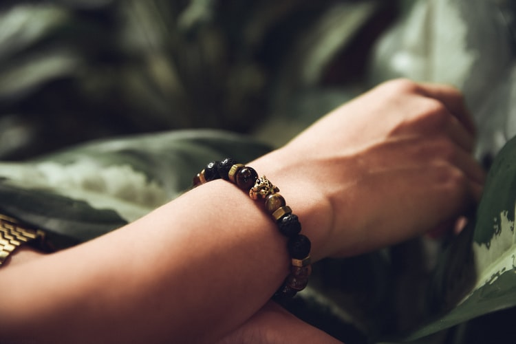 Girl Wearing Hemp Bracelet on Wrist