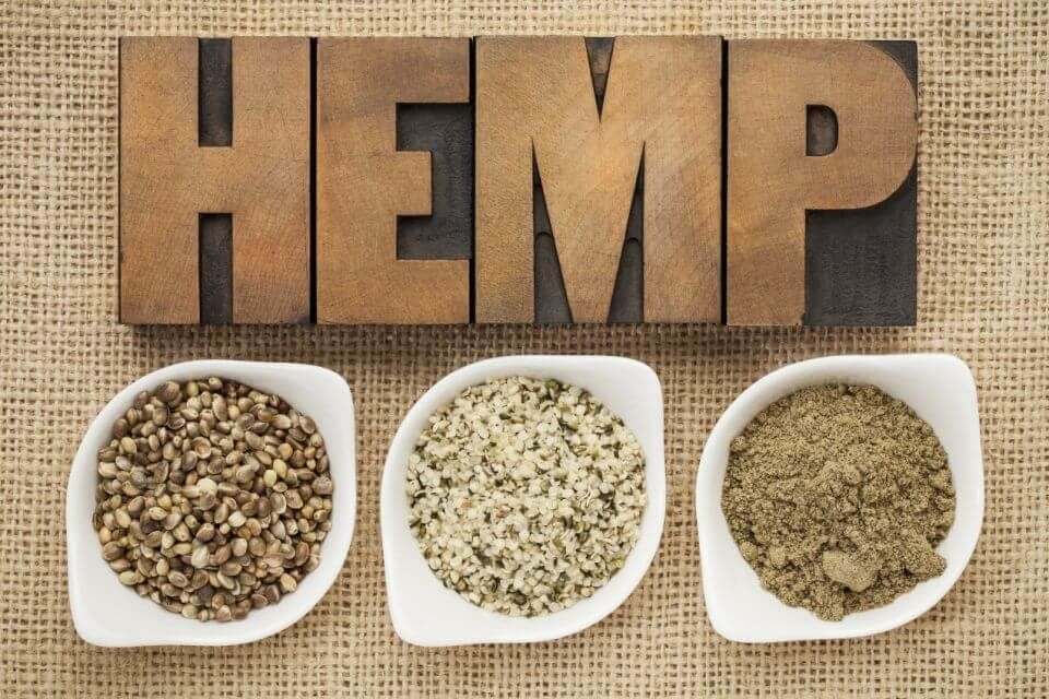 Different types of hemp heart seeds