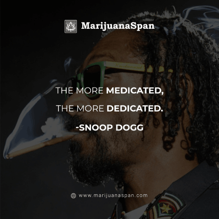 Marvelous Weed Quote of Legend Snoop Dogg.